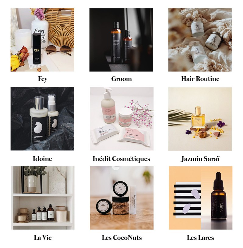 Directory of clean beauty brands made in Quebec.