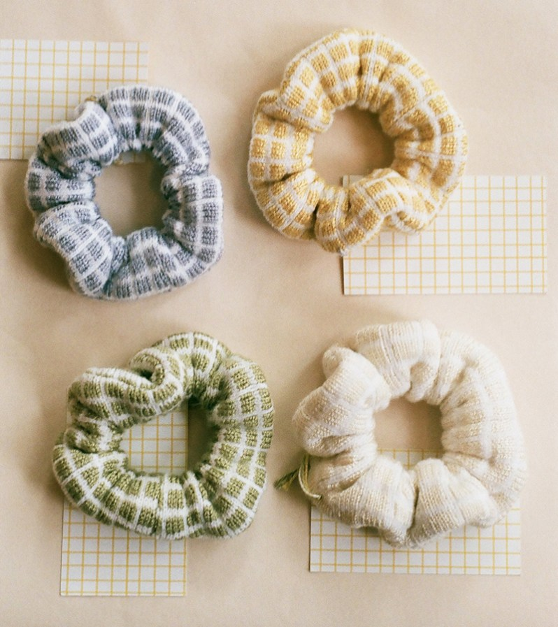 Sisterhood by Sarah Holmes scrunchies made in Quebec