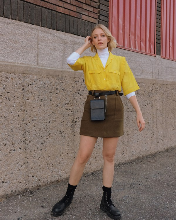 Pitti waist bag by ethical leather handbag company Wearshop
