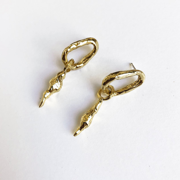 Brass earrings by Ora-C