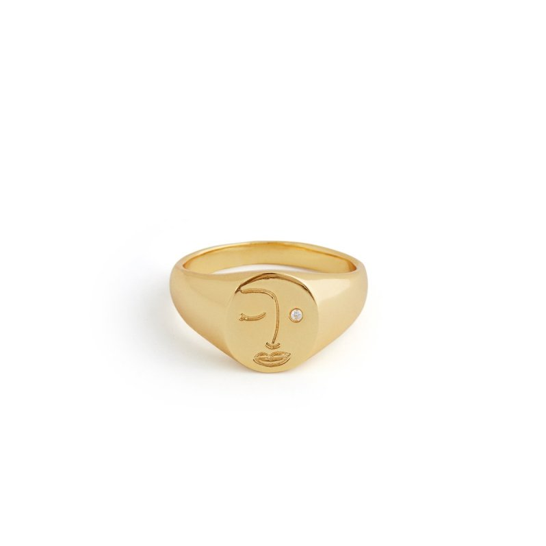 Gold plated ring by Twenty Compass