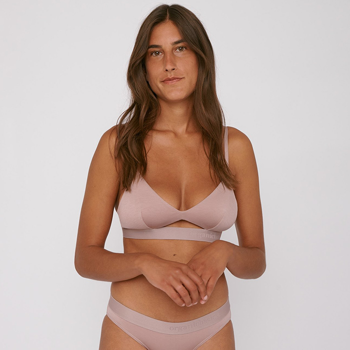 Eco-friendly and ethical bralette by Danish brand Organic Basics