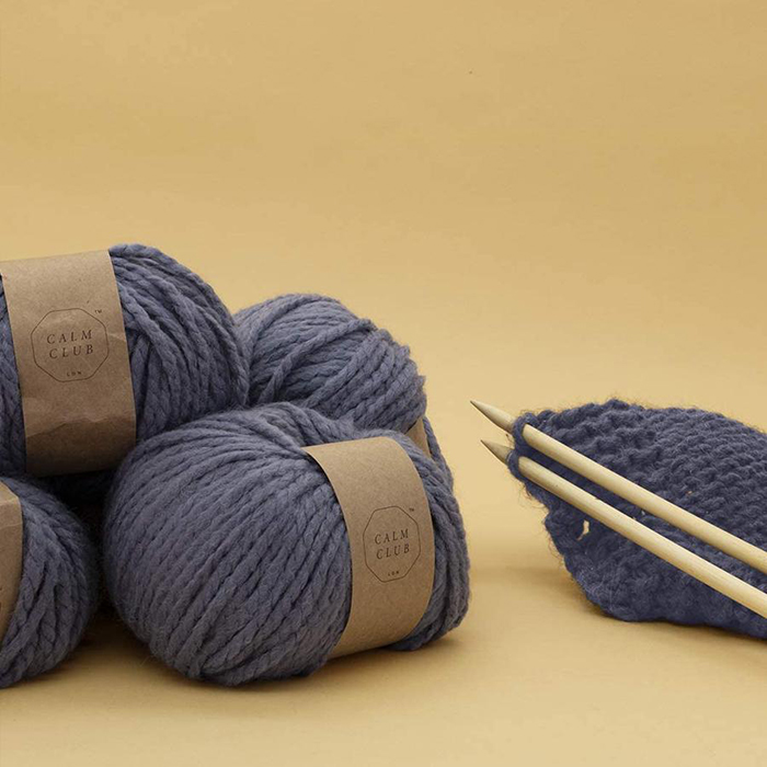 DIY blanket knitting kit by Calm Club