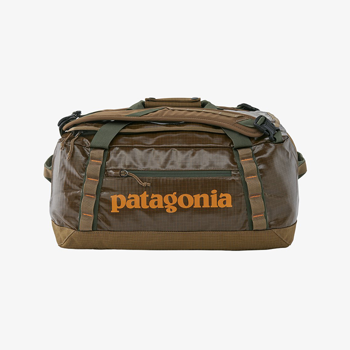 Duffle bag made with recycled materials by Patagonia