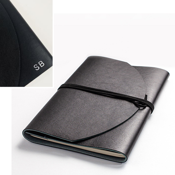Notebook leather cover by Delphine Platten