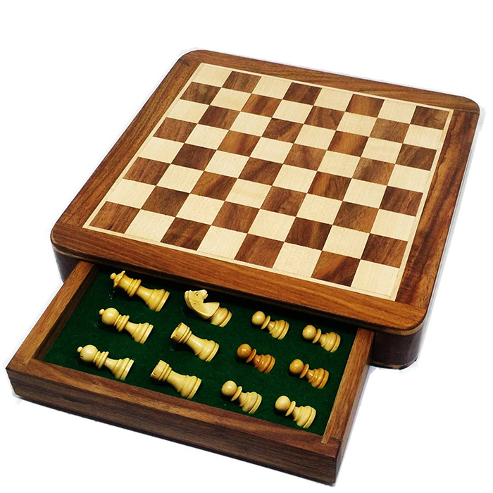 Handmade travel chess board