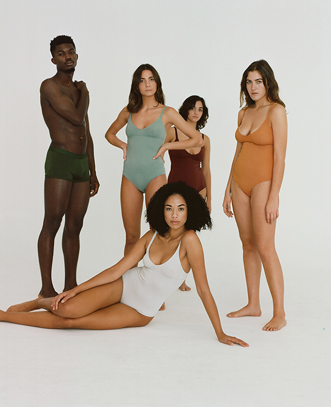 Organic cotton sustainable underwear from Spanish brand Nude.