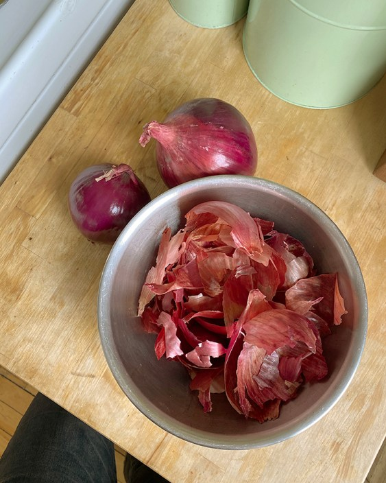 Using onion skins to dye your clothes