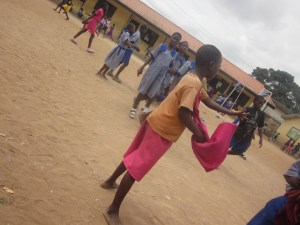 A student of AC Primary School