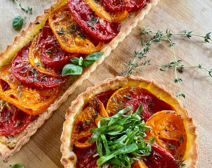 Creamy Feta and Tomato Tart