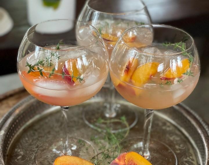 Gigi's Peach and Bourbon Sangr