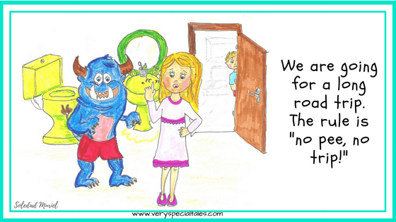 Confusion Monster Tale Emma and Monster in bathroom