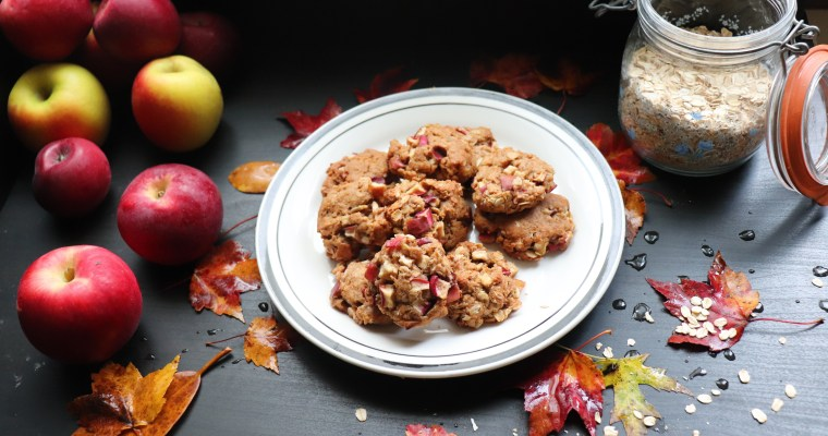 Almond, Oat and Apple Cookies (Vegan)