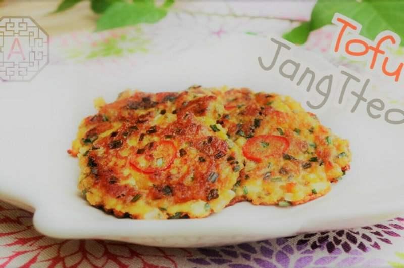 Корейские пряные оладьи с тофу