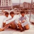 The Beatles. George Harrison, Paul McCartney and Ringo Starr. Tenerife, Nisan 1963.