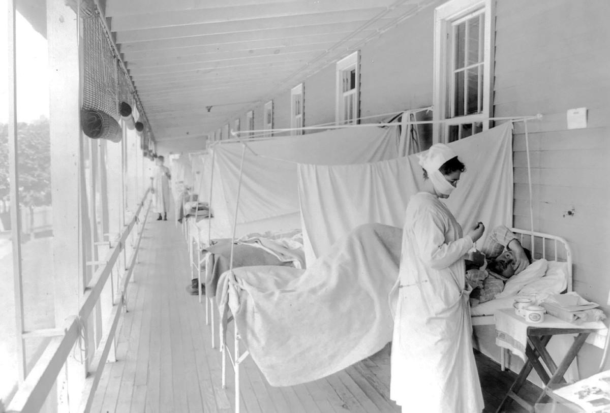 Walter Reed Hospital. Washington, 1918. Fotoğraf: Harris & Ewing, Library of Congress, AP.