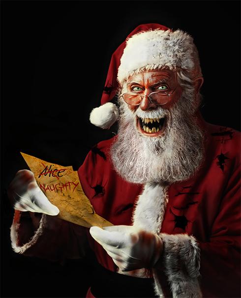 Дед Мороз и Санта Клаус в неприглядном виде. Злой, пошлый ...
