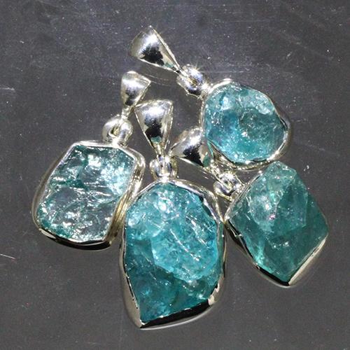 apatite rough pendant Apatite, Blue, Pendant, Rough, Translucent Quality Vesica Institute for Holistic Studies