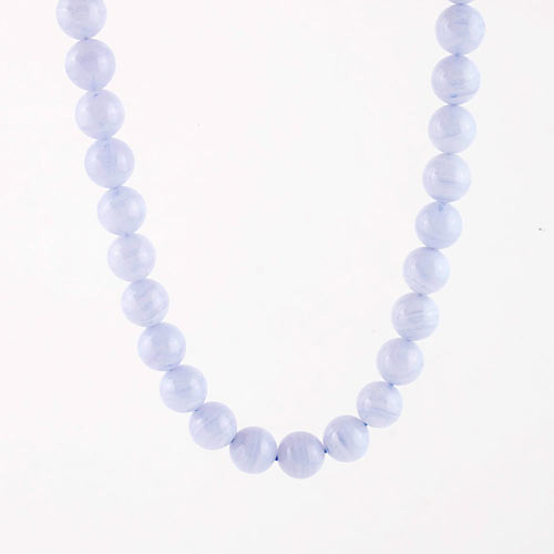blue lace agate beads b Agate, Blue Lace, Strand Vesica Institute for Holistic Studies