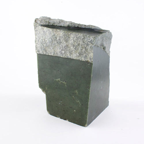 green jade block a Jade, Green, Huge Partly Polished Block Vesica Institute for Holistic Studies