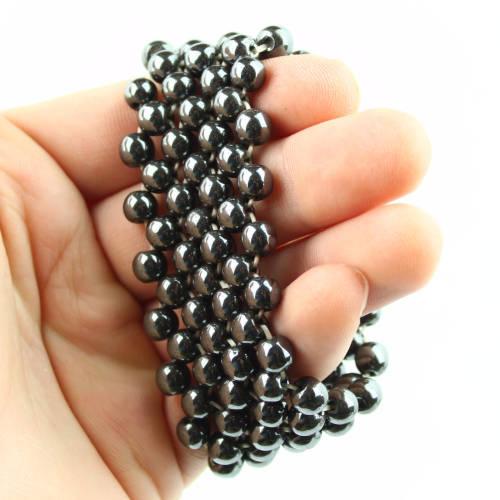 hematite woven bracelet 3 Hematite, Woven Bracelet Vesica Institute for Holistic Studies