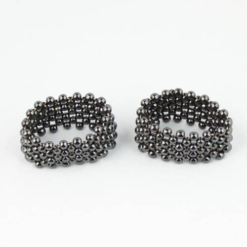 hematite woven bracelet 4 Hematite, Woven Bracelet Vesica Institute for Holistic Studies