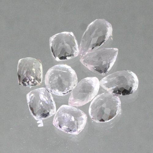 kunzite faceted raw gemstones afganistan2 Kunzite, Gemstone, All Natural Untreated, Himalayan Vesica Institute for Holistic Studies