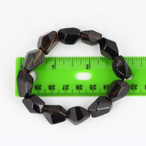 smoky quartz faceted bracelet 2 Quartz, Smoky, Faceted, Bracelets Vesica Institute for Holistic Studies