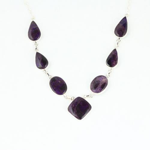 sugalite deep purple 1 Sugilite, Deep Purple, Necklace, 7 Stone Vesica Institute for Holistic Studies