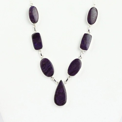 sugalite deep purple 3 Sugilite, Deep Purple, Necklace, 7 Stone Vesica Institute for Holistic Studies