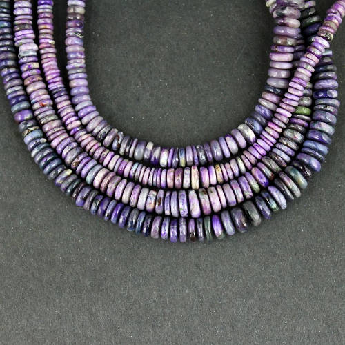 sugilite roundel bead necklace 2 Sugilite, Roundel Bead, Necklace Vesica Institute for Holistic Studies