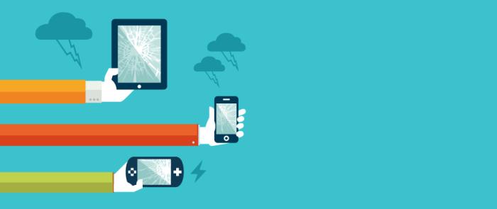 Téléphone mobile, tablette tactile, console de jeux cassés ?