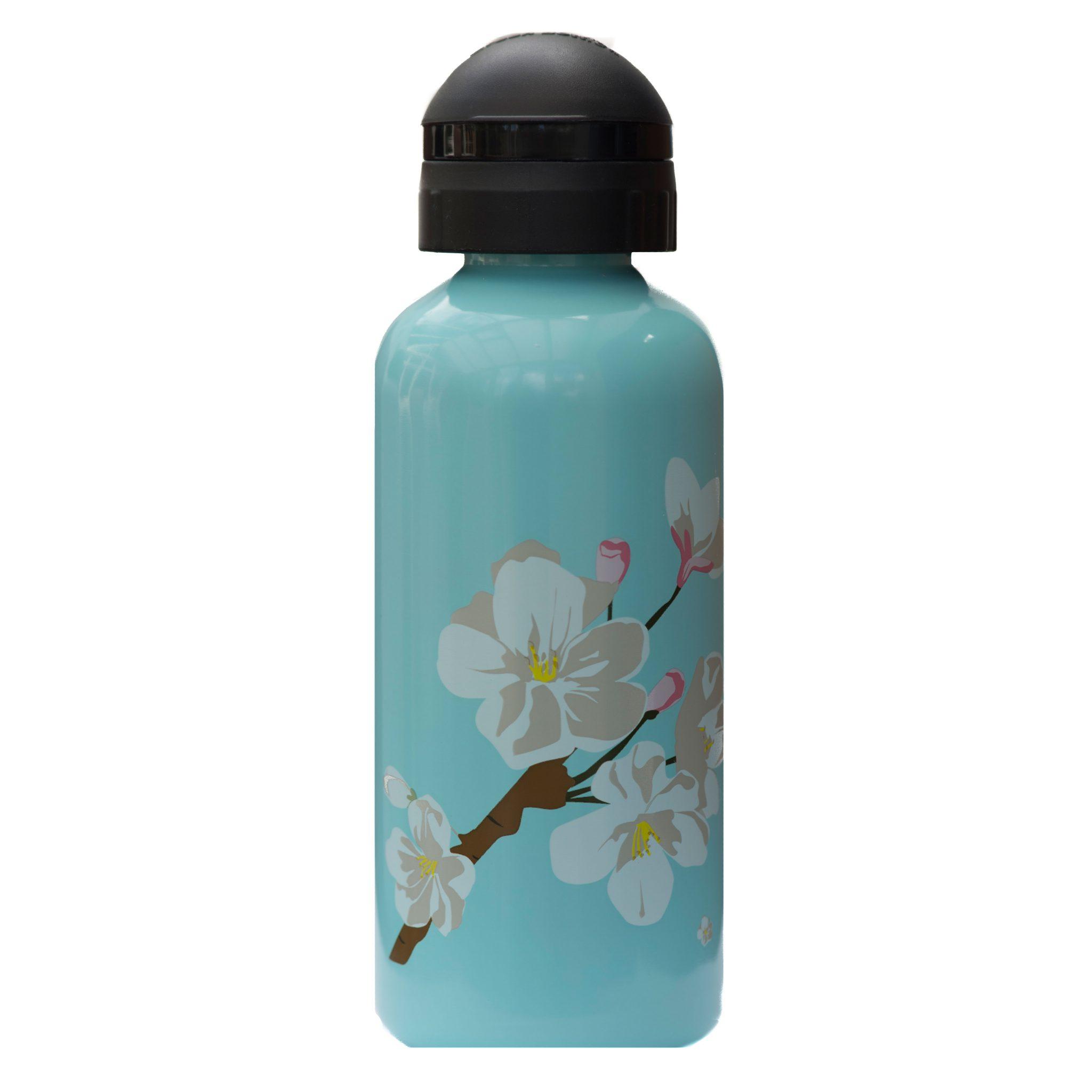 «Цветение Яблони». Бутылочка для воды из нержавеющей стали. 600 мл