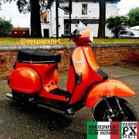 Orange custom modified Vespa T5 Excel Fully refurbed Mk1 T5 owned by Ian  @goodthing80s