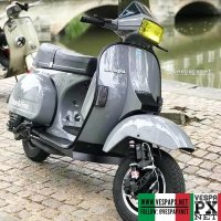 Grey Vespa excel T5 custom modified . hashtag and mention @vespapxnet for feature repost @gaylordz_antwerpscooterclub