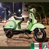 Mint green Vespa PX custom modified . hashtag and mention @vespapxnet for feature repost @ivanprasetyanto