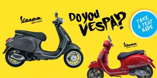 test ride Vespa Medan Indonesia