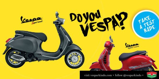test ride Vespa Medan Indonesia