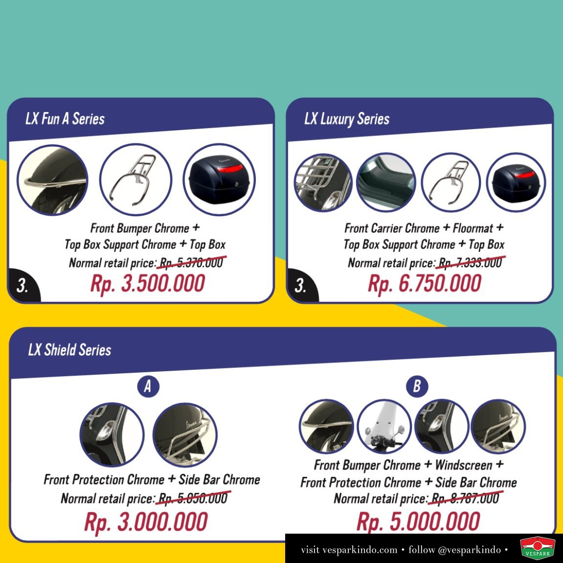 Vespa LX Accessories