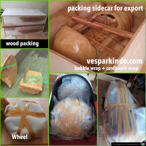 vespa sidecar export packing