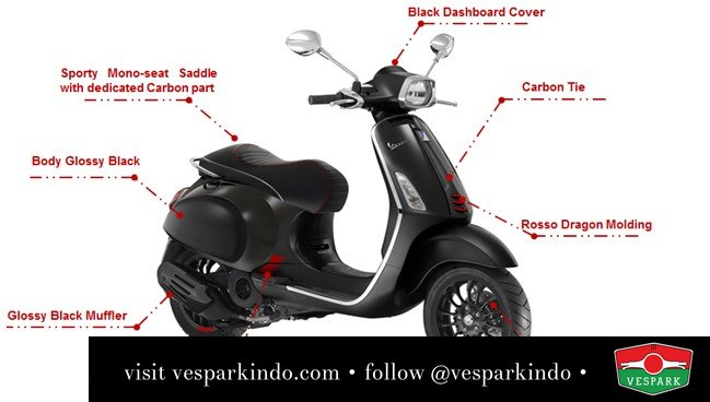 vespa sprint carbon specifications