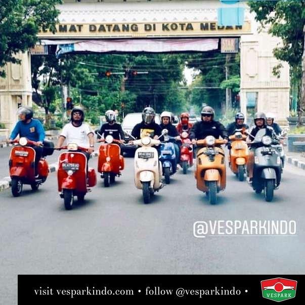 Vespa Riding kota Medan @medanmodsgeneration