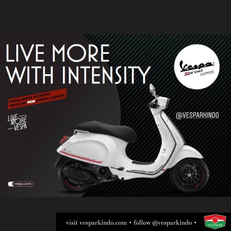 New Vespa Sprint Carbon White! Limited edition, limited units! Indent now at Vespark Call 061-4565454