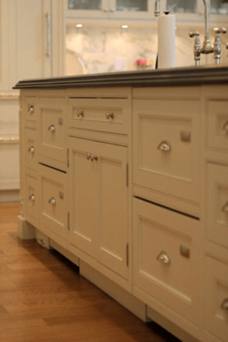 Duel dishwashers paneled to match cabientry