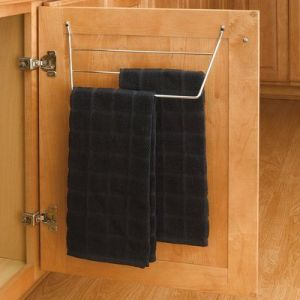 tea towel holder that mounts on door under sink