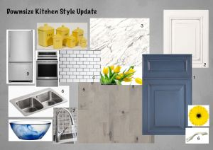 Mood board for updated kitchen remodel