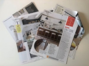 Tear sheets of kitchen design inspiration