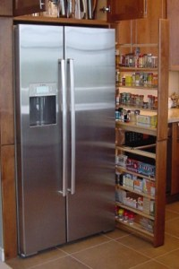 filler pullout pantry height