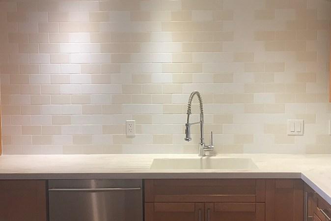 full wall of tile for backsplash