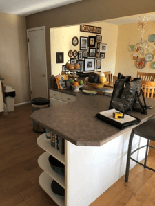 picture of existing kitchen showing island